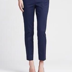 CYNTHIA ROWLEY NAVY ANKLE PANTS 8